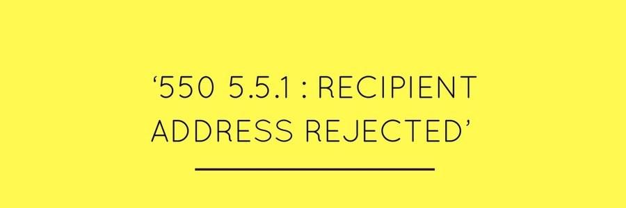 The 550 5 1 1 error | SendPulse