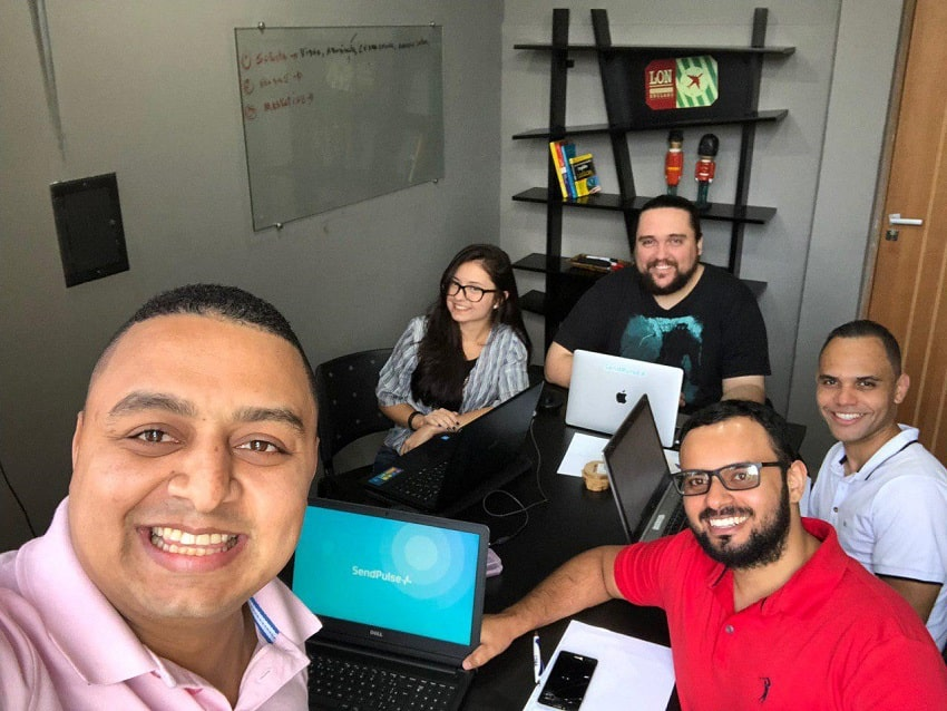 SendPulse team in Brazil