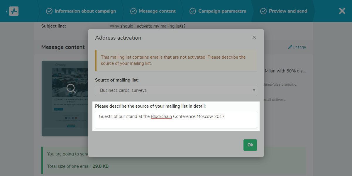 Detailed description of a mailing list source