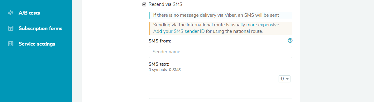 Resend messages via SMS