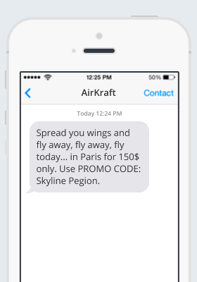Airkraft SMS notification