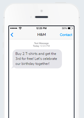 Business SMS from H&M