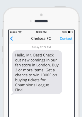 Chelsea SMS notification
