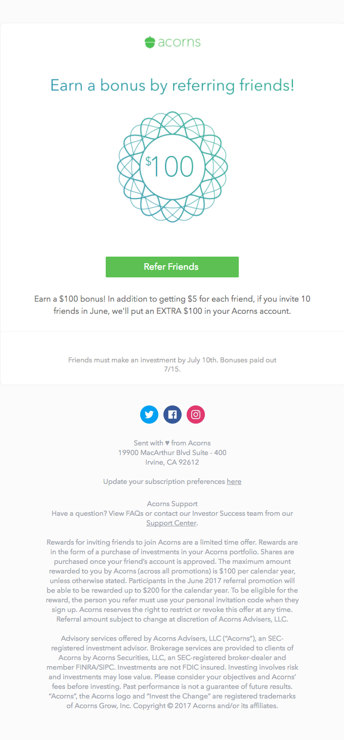 A referral program
