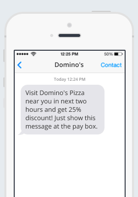Dominos SMS notification