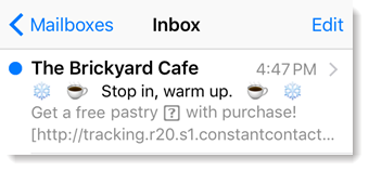 Emoji in a subject line