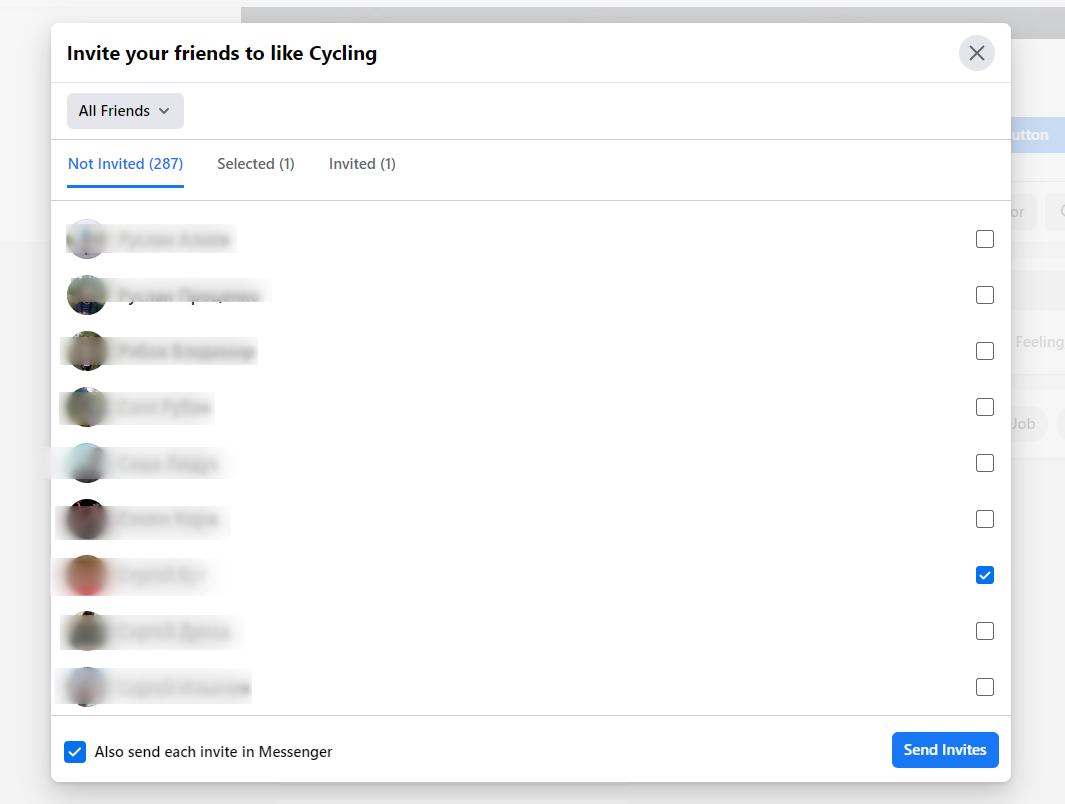 Inviting friends