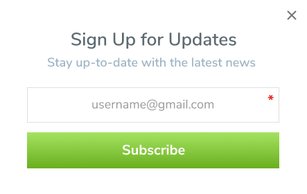 Subscription Forms for Growing Your Mailing List Image 3