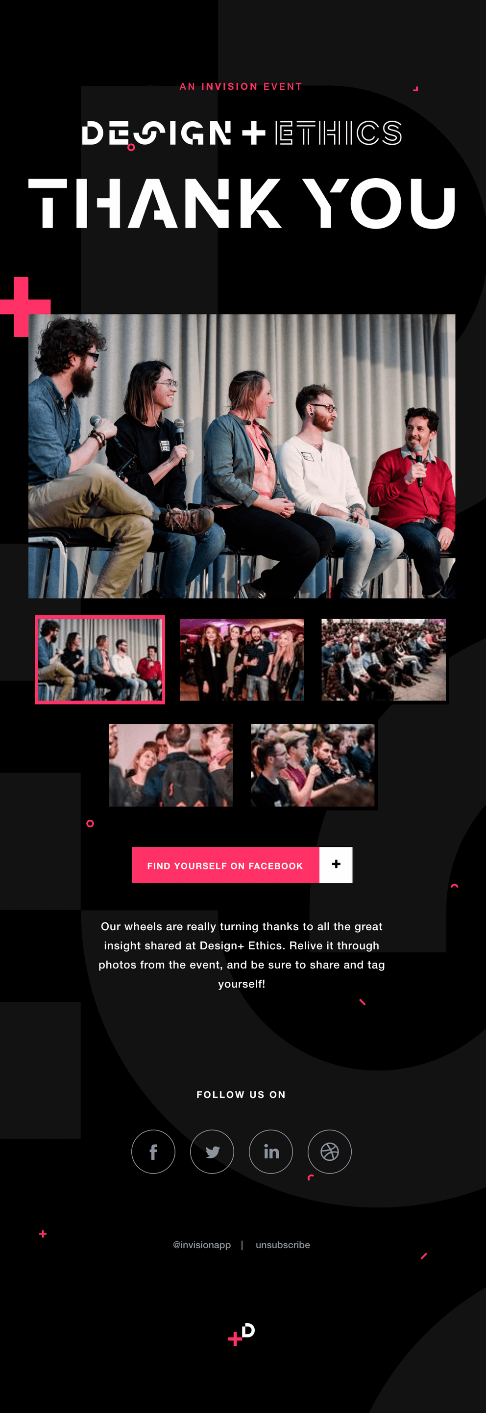 Invision Event Follow-up Email