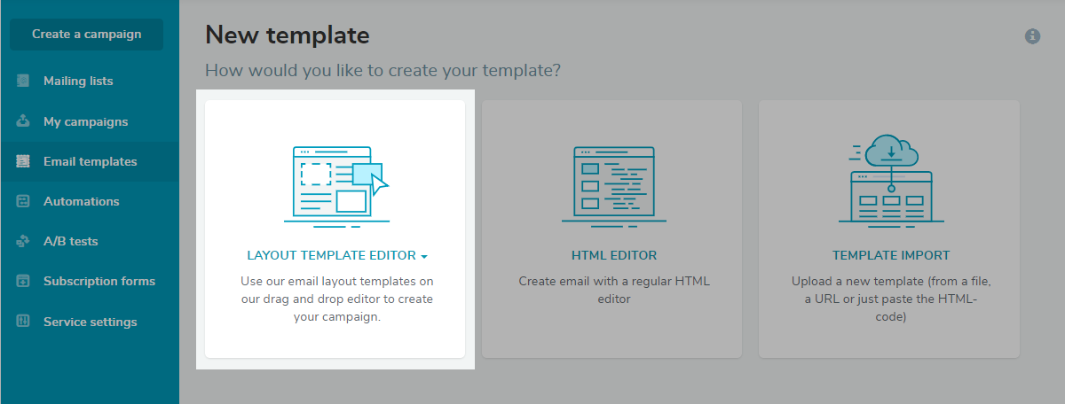 Layout Template Editor