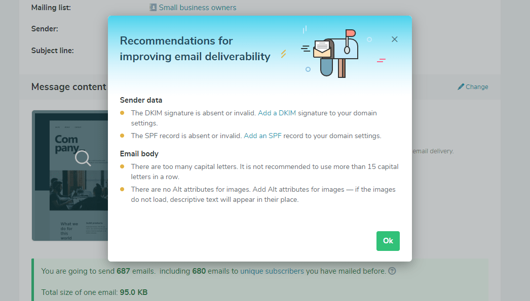 SendPulse's anti-spam recommendations