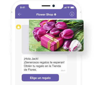 Viber message illustration