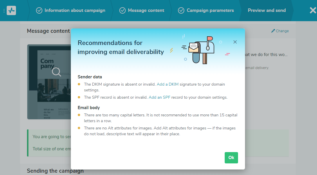 Recommendations to improve email deliverability