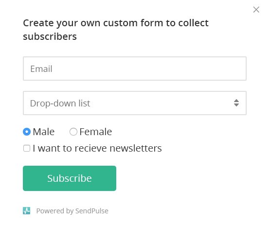 subscription forms