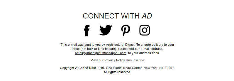 Poor example of unsubscribe link by AD